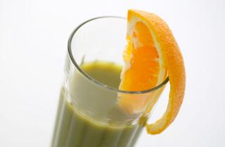 青汁+オレンジジュース