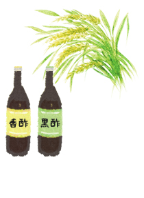 香酢と黒酢と米酢
